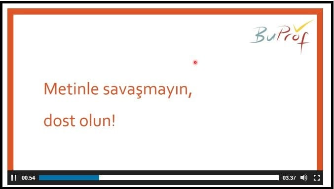 reading eğitim video